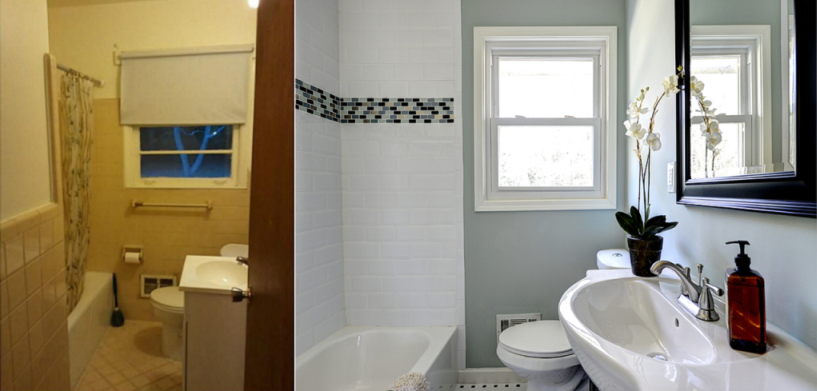 Before & After Bathroom 1